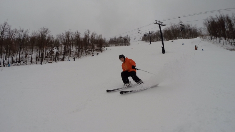 Skiing at Windham in the Catskills New York