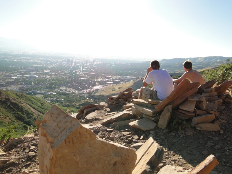 Living Room hike in SLC Mountains