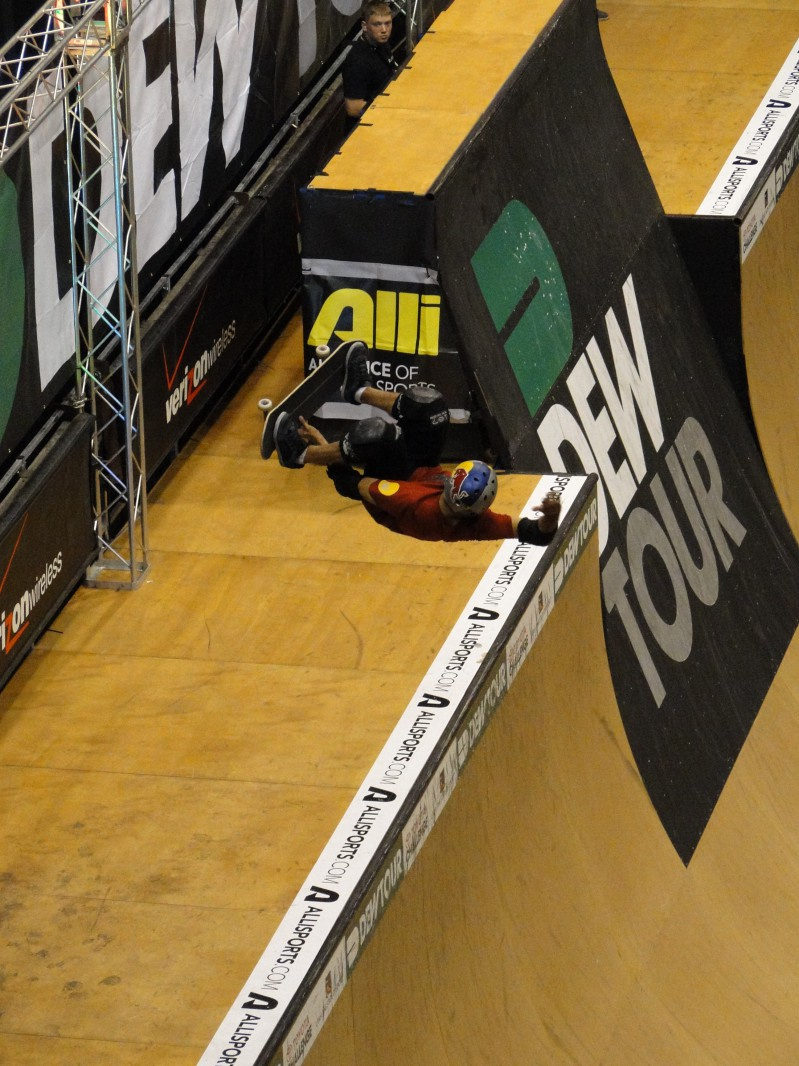 Indoor Skateboarding Half Pipe Dew Tour SLC