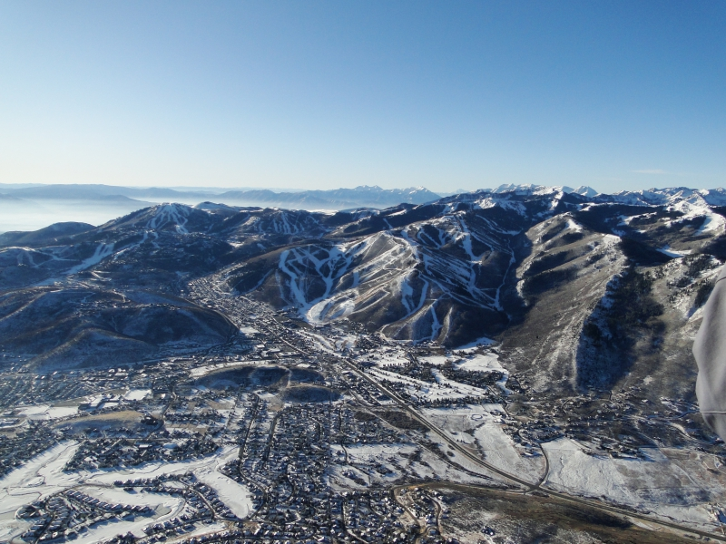 Park City Utah Vantage from Hot Air Balloon