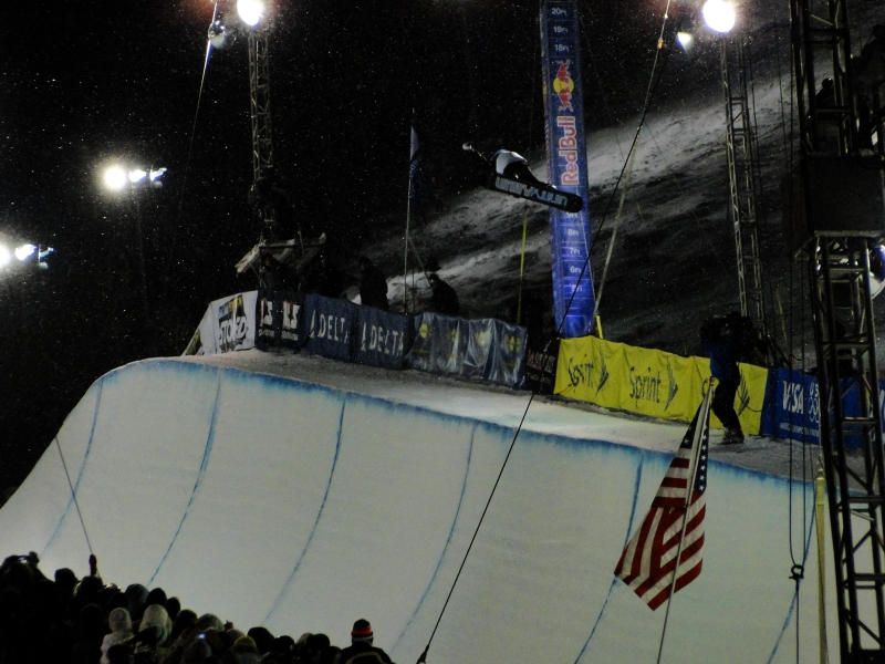 Shawn White Snowboarding Half Pipe Park City Utah