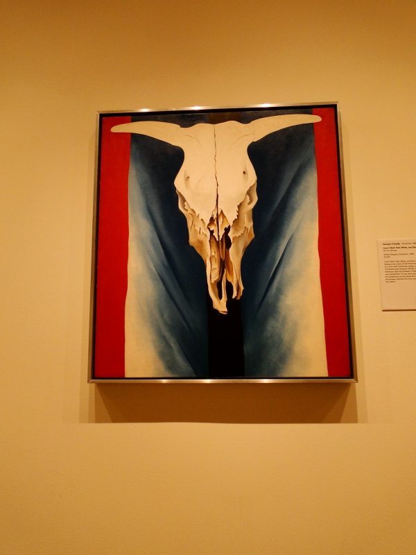 Georgia O'Keefe painting in the Met, New York City