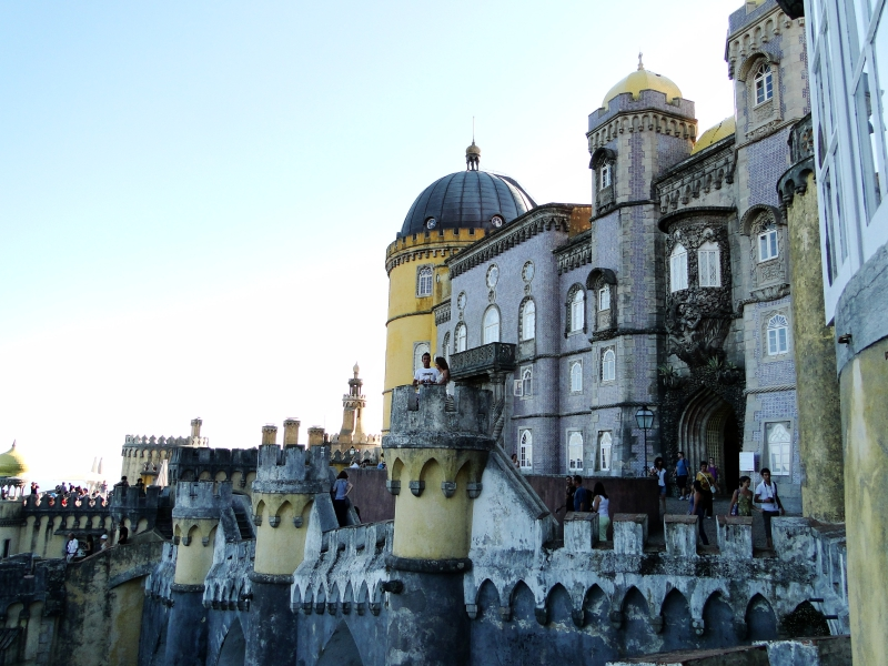 Exterior of Palace in Sintra Portugal