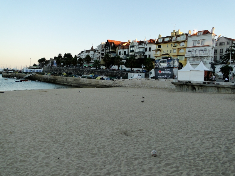The Beach in Cascais near Sintra Portugal