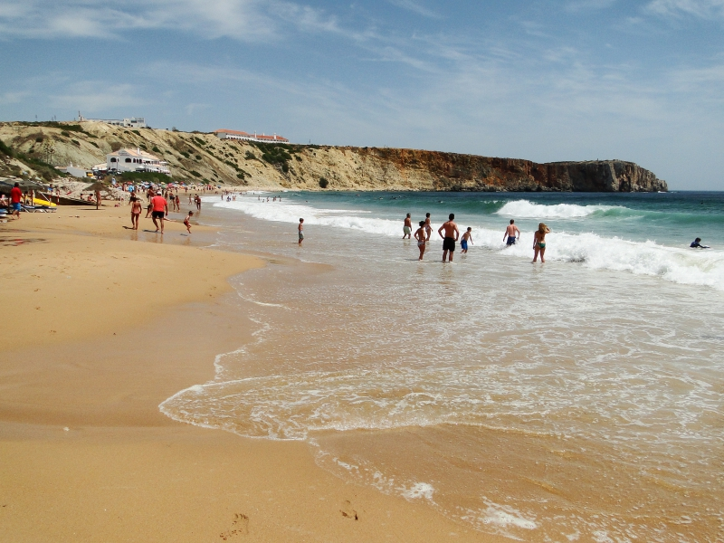 Beach along southern shore of Portugal