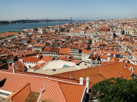 The View from Sao Jorge Castle in Lisbon Portugal