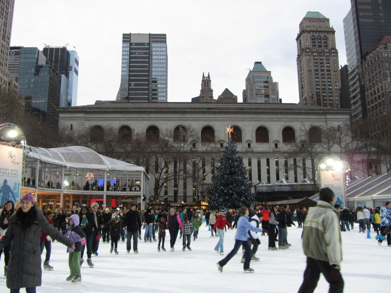 Bryant Park Ice Skating, New York City