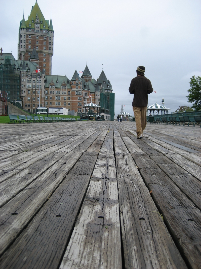 Boardwalk in Quebec City