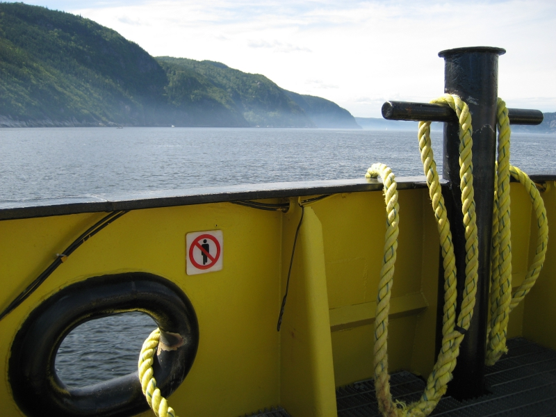 Crossing Saguenay Fjord by Ferry