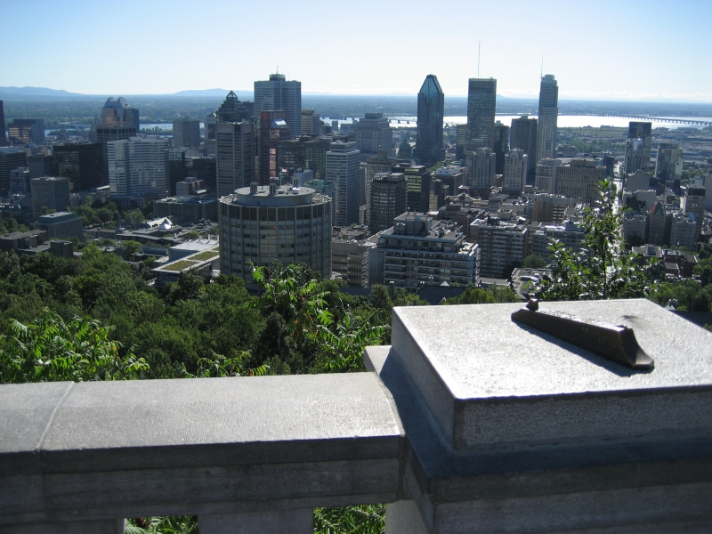 View From Mont Royale overlooking Montreal