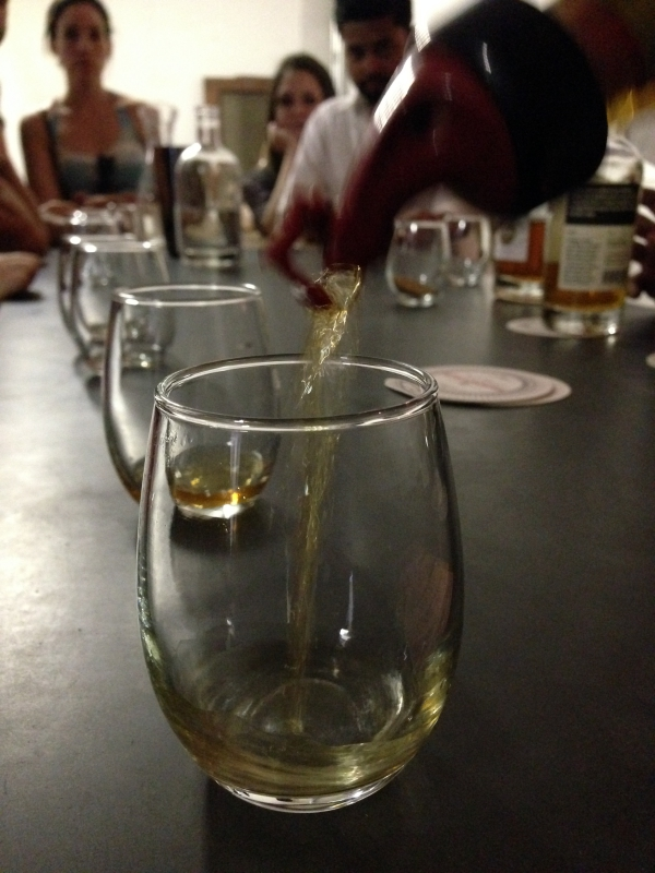 Samples at Van Brunt Stillhouse Red Hook New York City
