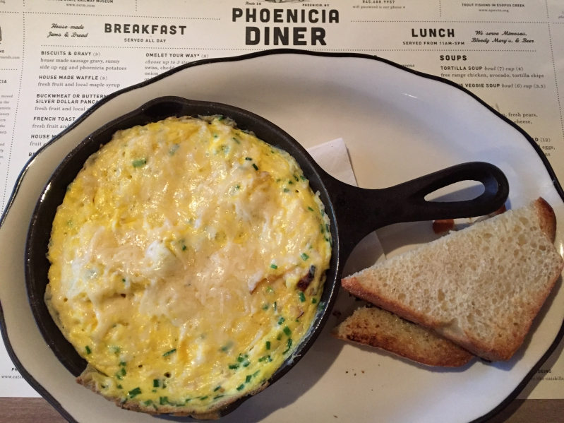 Breakfast skillet at Phoenicia Diner Catskills New York