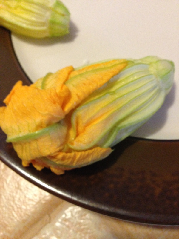 Un-Fried Cheese Stuffed Squash Blossoms