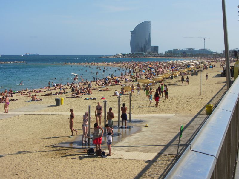 The Beach in Barcelona Spain