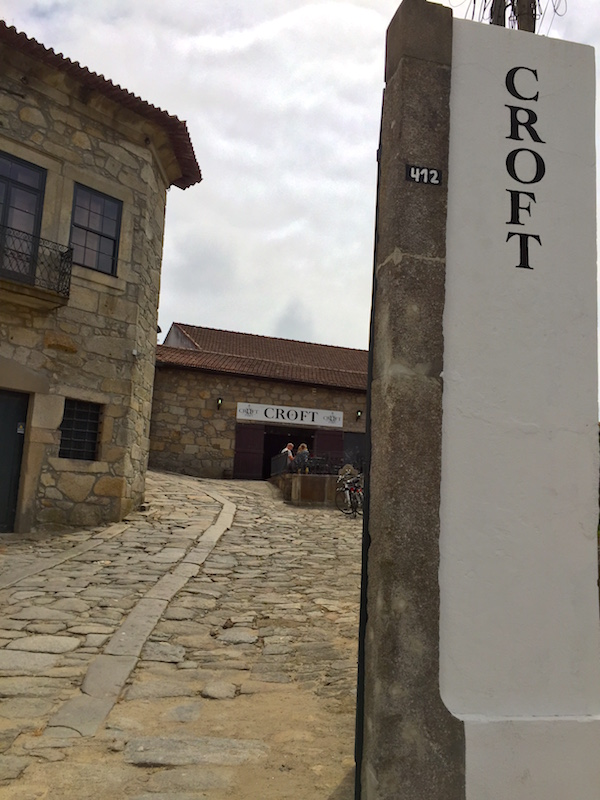 Entrance to Croft Port wine tasting in Porto, Portugal