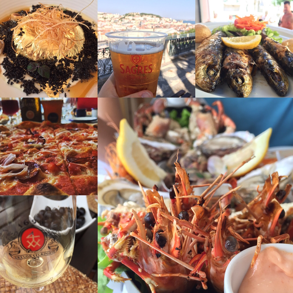Collage of incredible Portuguese food