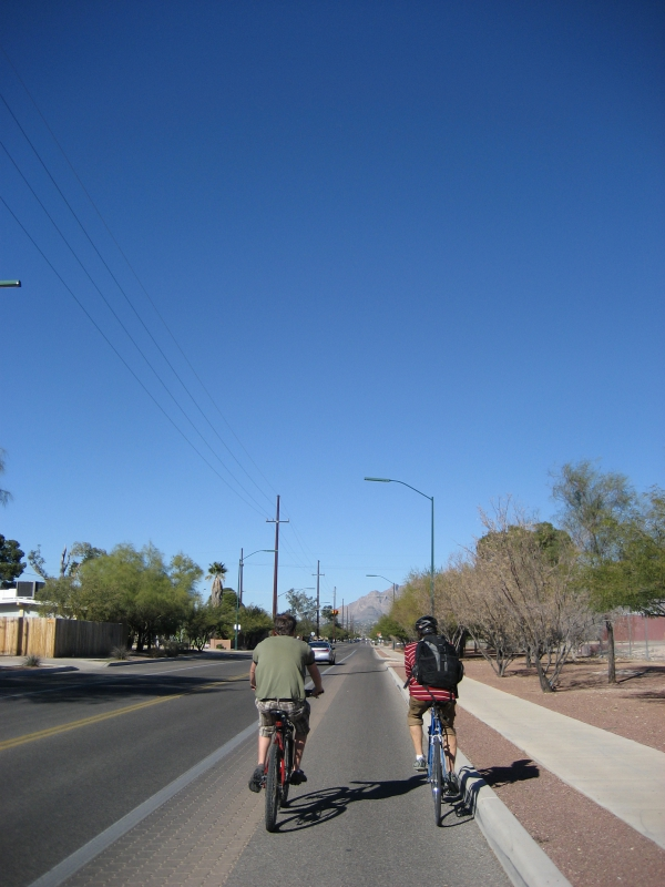 Biking through Tucson