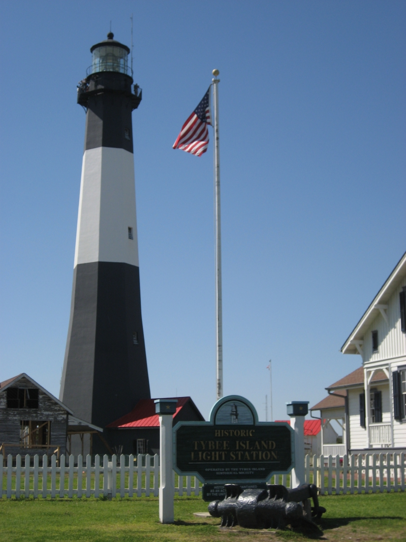 Lighthouse at Tybee Island Georgia