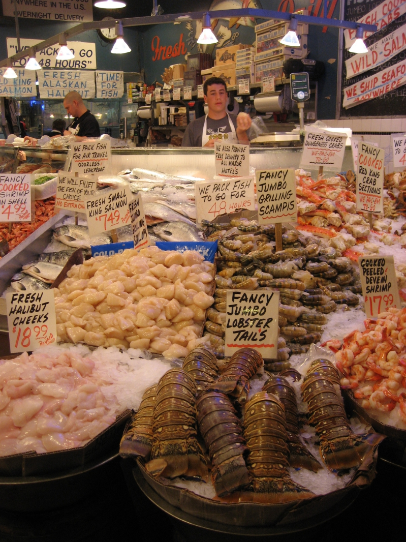 Seafood Market Seattle Washington