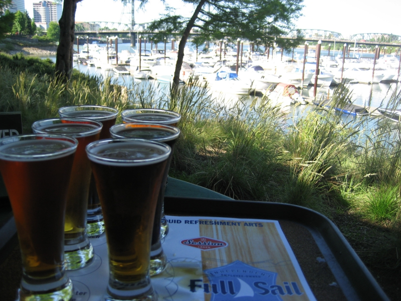 Beers at Marina in Portland Oregon